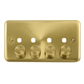 Click Deco Plus 4 Gang Empty Dimmer Plate & Knobs DPSB154PL