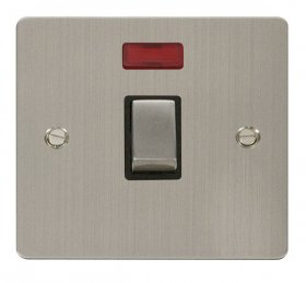 Click Define Stainless Steel 20A DP Switch with Neon FPSS723BK