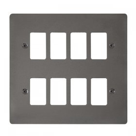 Click Define Black Nickel 8 Gang Grid Pro Front Plate FPBN20508