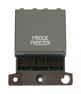 Click MiniGrid MD022BNFF B/Nickel 20A DP Fridge Freezer Sw Mod