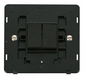 Click Definity 2 Gang 2 Way Switch Insert SIN012BK