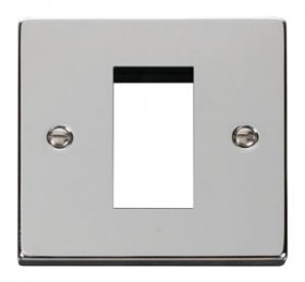 Click Deco Polished Chrome New Media Single Plate VPCH310