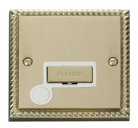 Click Deco Georgian Brass Unswitched Fused Spur + F/O GCBR550WH