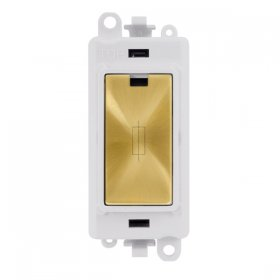 Click Grid Pro GM2047PWSB 13A Fused Module White Satin Brass