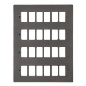 Click Define Black Nickel 24 Gang Grid Pro Front Plate FPBN20524