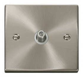 Click Deco Satin Chrome Non-Isolated Satellite Socket VPSC156WH