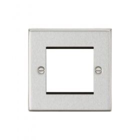 Knightsbridge Brushed Chrome 2 Gang Modular Face Plate CS2GBC