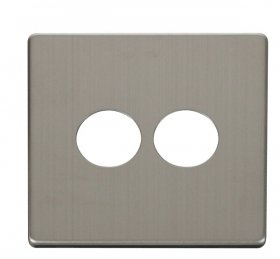 Click Definity 2 Gang Toggle Switch Cover Plate SCP222SS