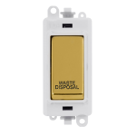 Click Grid Pro GM2018PWBR-WD DP Mod Wh Pol/Brass Waste Disposal