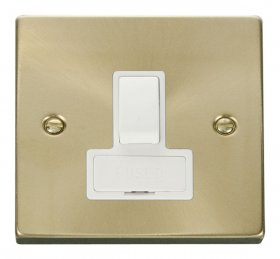 Click Deco Satin Brass Switched Fused Spur VPSB651WH
