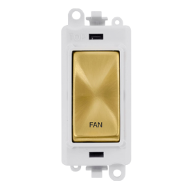 Click Grid Pro GM2018PWSB-FN DP Module White Satin Brass Fan