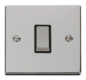 Click Deco Polished Chrome 1 Gang 2 Way Switch VPCH411BK