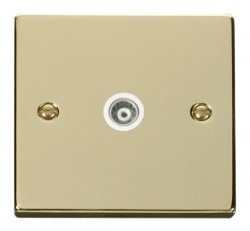 Click Deco Polished Brass Isolated Coaxial Socket VPBR158WH