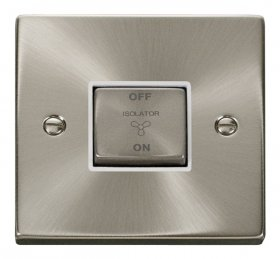 Click Deco Satin Chrome 3 Pole Fan Isolator Switch VPSC520WH