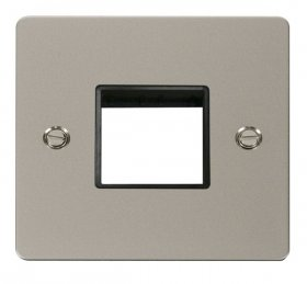 Click Define Pearl Nickel Single Plate 2 Gang Aperture FPPN402BK