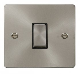 Click Define Brushed Steel Intermediate Switch FPBS425BK