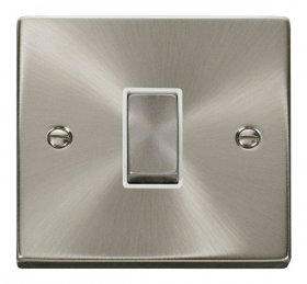 Click Deco Satin Chrome 1 Gang 2 Way Switch VPSC411WH
