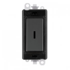 Click Grid Pro GM2046BK Double Pole Key Switch Module Black