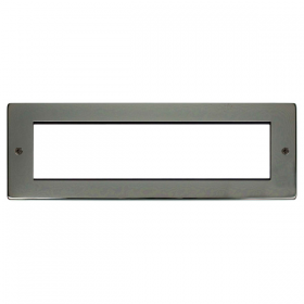 Click New Media Black Nickel 8 Module Front Plate MP608BN