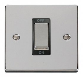 Click Deco Polished Chrome 1 Gang 45A DP Switch VPCH500BK