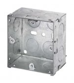 1 Gang 47mm Deep Galvanised Knock Out Box