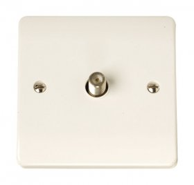 Click Curva CCA156 Non-Isolated Satellite Outlet Plate