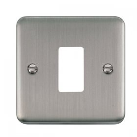 Click Deco Plus S/Steel 1 Gang Grid Pro Front Plate DPSS20401