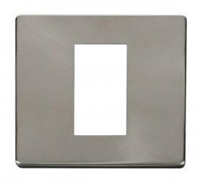 Click Definity Single Media Plate 1G Cover Plate SCP310BS