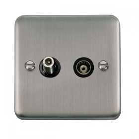 Click Deco Plus Satellite and Coaxial Socket DPSS157BK