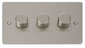 Click Define Pearl Nickel 3 Gang 2 Way Dimmer Switch FPPN153