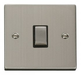 Click Deco Stainless Steel 20A Double Pole Switch VPSS722BK