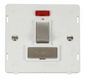 Click Definity 13A Switched Fuse Spur + Neon Insert SIN752PWSS