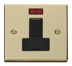 Click Deco Polished Brass Switched Fused Spur + Neon VPBR652BK
