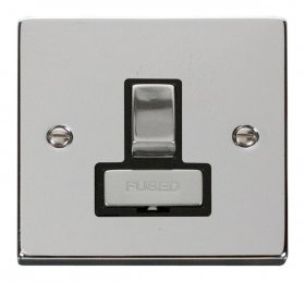 Click Deco Polished Chrome Switched Fused Spur VPCH751BK