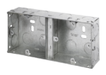 Click WA370 1+1 35mm Deep Dual Galvanised Knock-out Box (Deco)