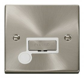 Click Deco Satin Chrome Unswitched Fused Spur + F/O VPSC550WH