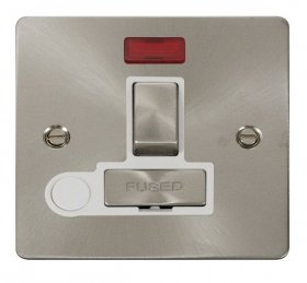 Click Define Brushed Steel Switched Spur Neon + F/O FPBS552WH