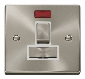 Click Deco Satin Chrome Switched Fused Spur with Neon VPSC752WH