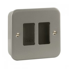 Click Metal Clad 2 Gang Grid Pro Front Plate CL20402