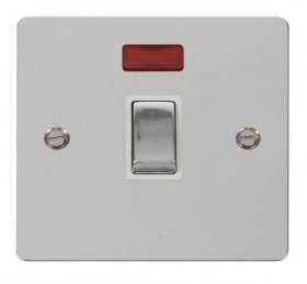 Click Define Polished Chrome 20A DP Switch + Neon FPCH723WH