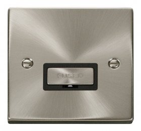 Click Deco Satin Chrome Ingot Unswitched Fused Spur VPSC750BK