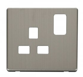 Click Definity 13A 1 Gang Switched Socket Cover Plate SCP435SS