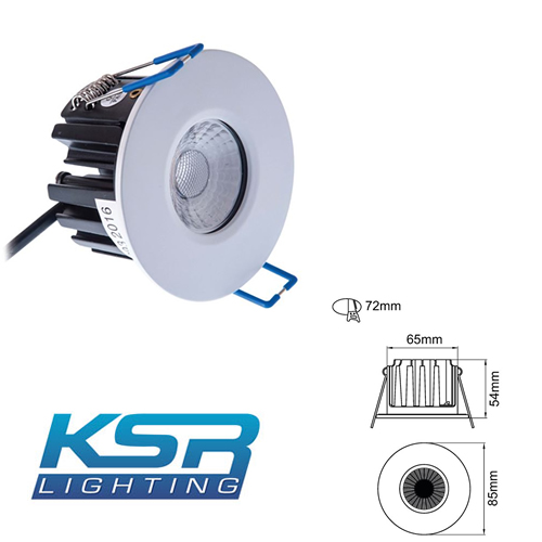 KSR FireBreak QR10 Dimmable LED Downlight 4000K KSRFRD351/EM
