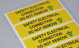 SES Sterling Safety Electrical Connection Label WLVLF50YBG