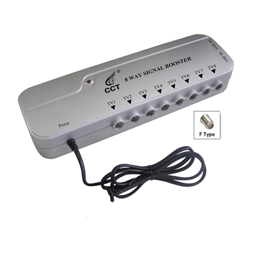 8 Way Signal Booster with 4G Filter and Digital Bypass AD-CD08HF