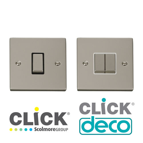 Deco Pearl Nickel Plate Switches