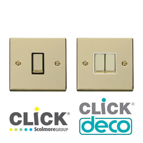 Deco Polished Brass Switches
