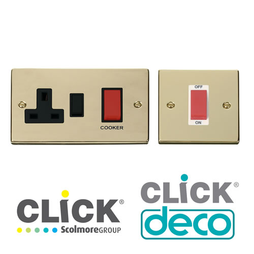 Deco Polished Brass DP Switches