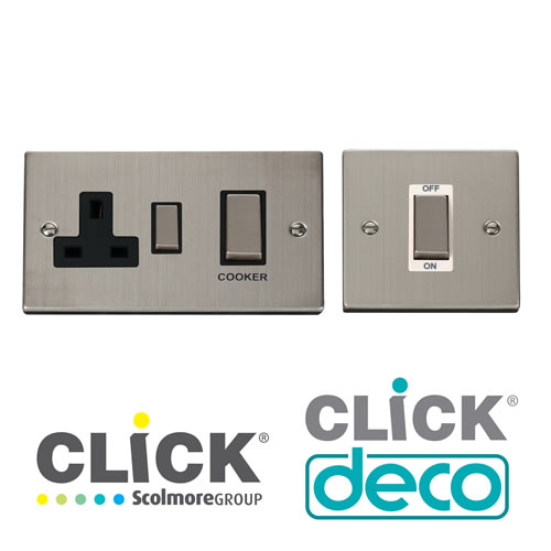 Deco Stainless Steel DP Switches