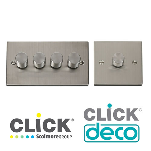Deco Stainless Steel Dimmers